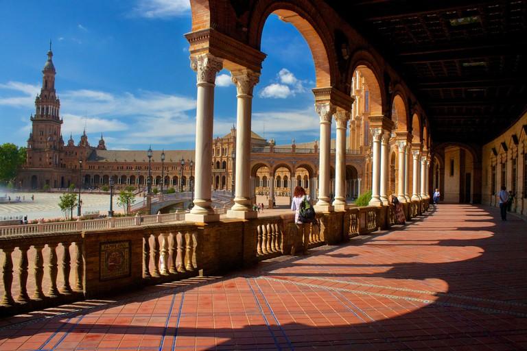 Seville's beautiful Plaza de España