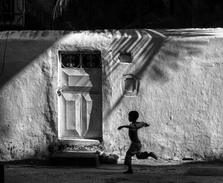 The shadows of Stone Town