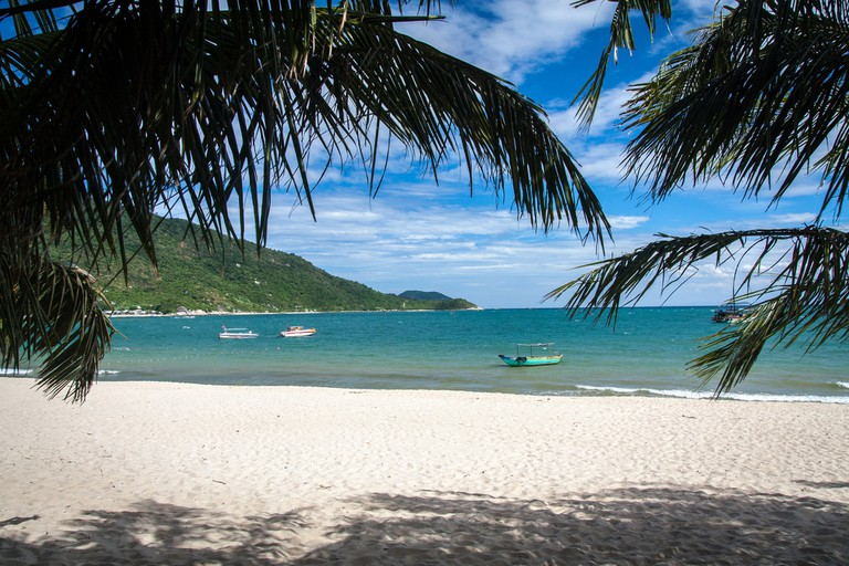 A beach on one of the Cham Islands