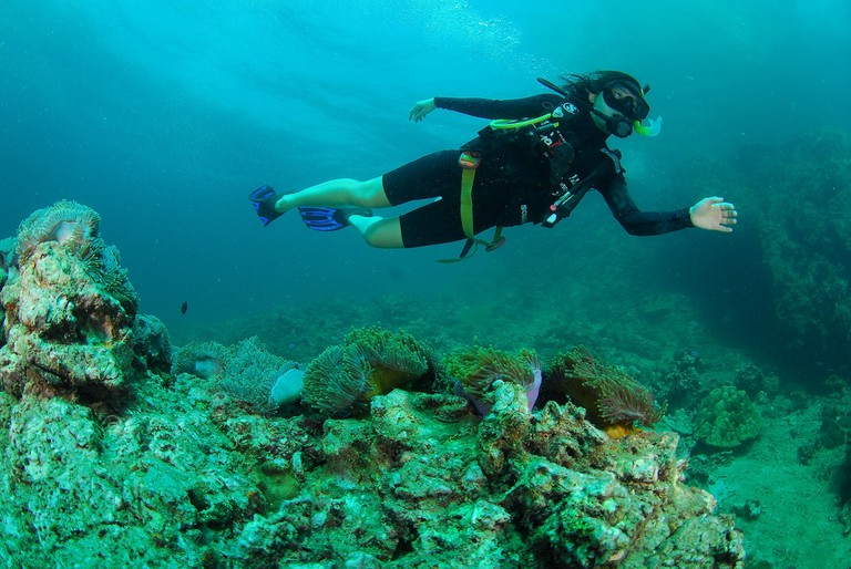 Diving is great in Thailand