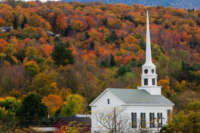 Fall foliage in Stowe