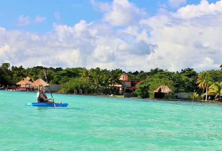 Kayaking on Bacalar