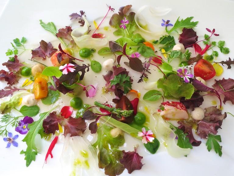 Vegetable salad at Lasarte-Oria