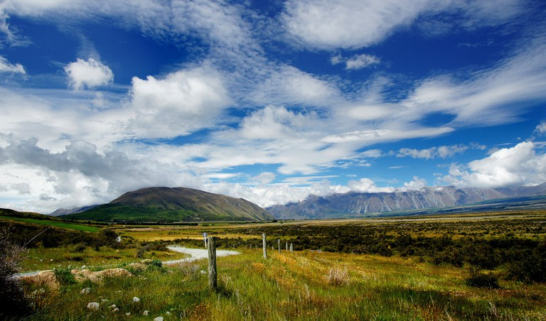New Zealand high country landscape
