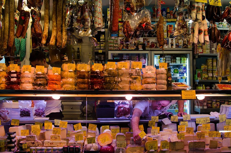 The colourful and lively Mercado de Triana, in Seville's former gypsy neighbourhood