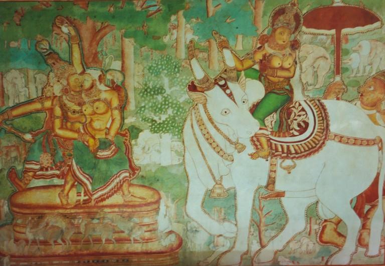 Extraordinary mural art in Mattancherry Palace in Kochi
