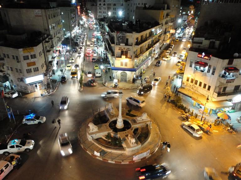 Ramallah at night