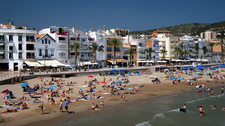Sitges beach front