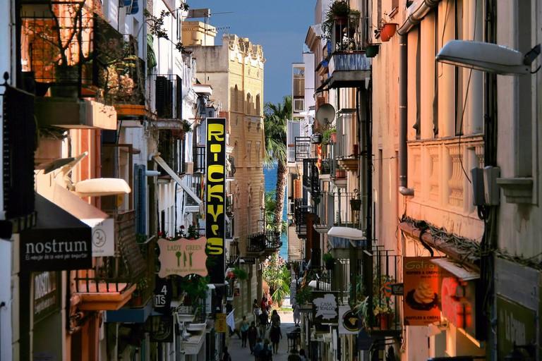 Sitges high-street