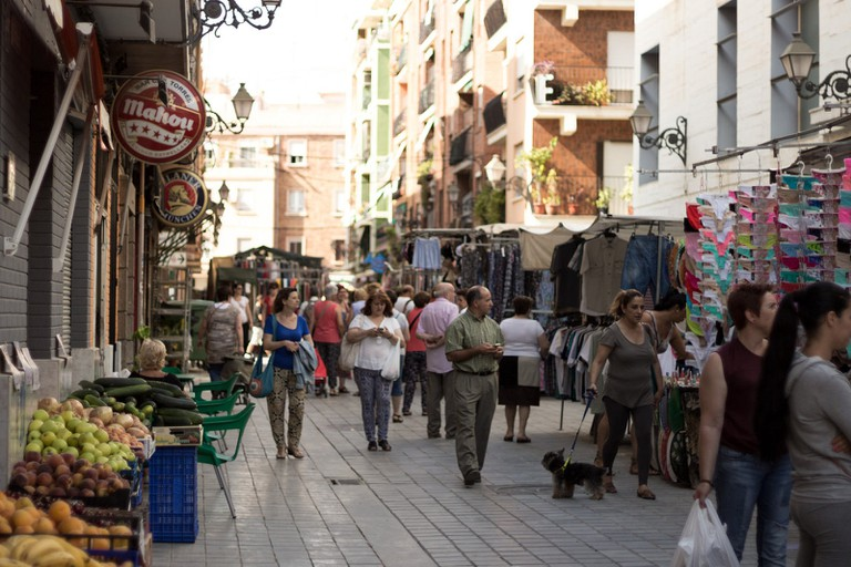 A street market in Benimaclet, Valencia. Photo