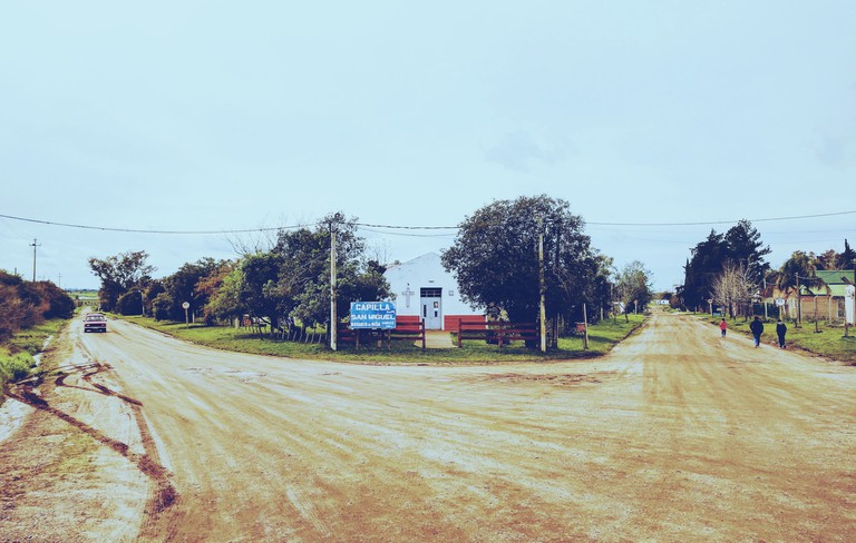 Dirt roads on a small Uruguayan town