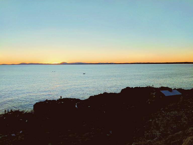 Cliff view in Punta Ballena, Uruguay