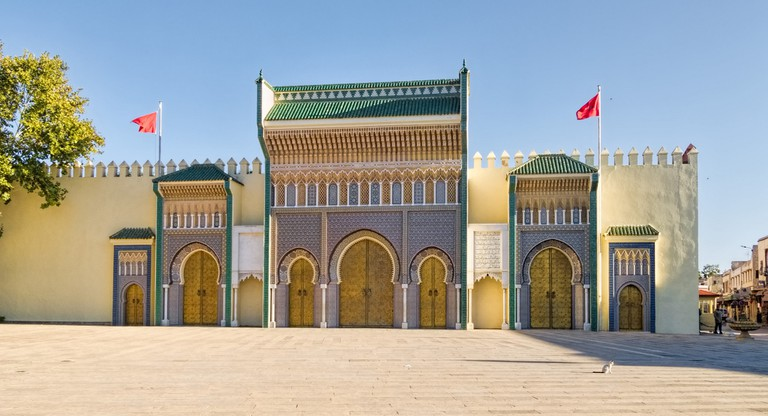 Grand gateway into the Royal Palace of Fez