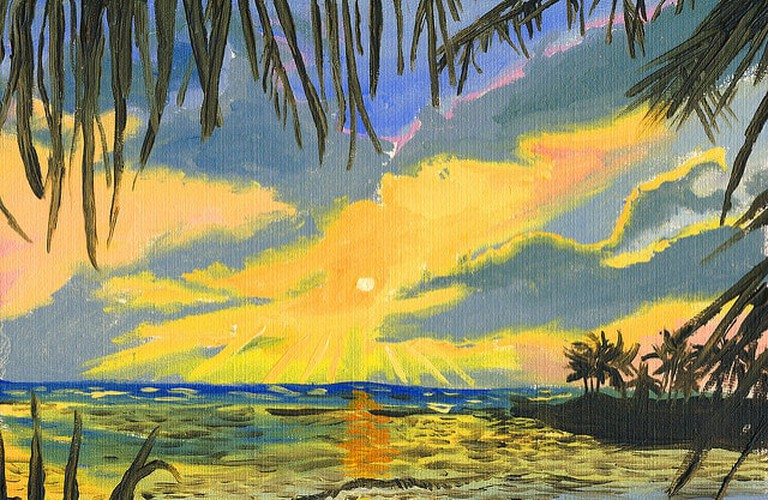 Jamaican oil painting │
