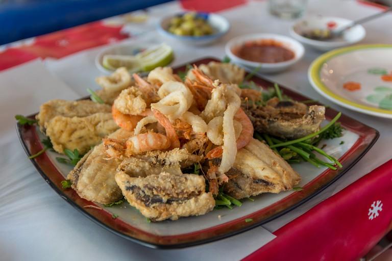 Moroccan seafood in Agadir