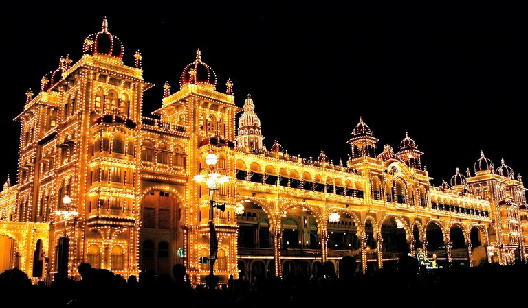 The Mysore Palace in Karnataka was built in the late 19th-century