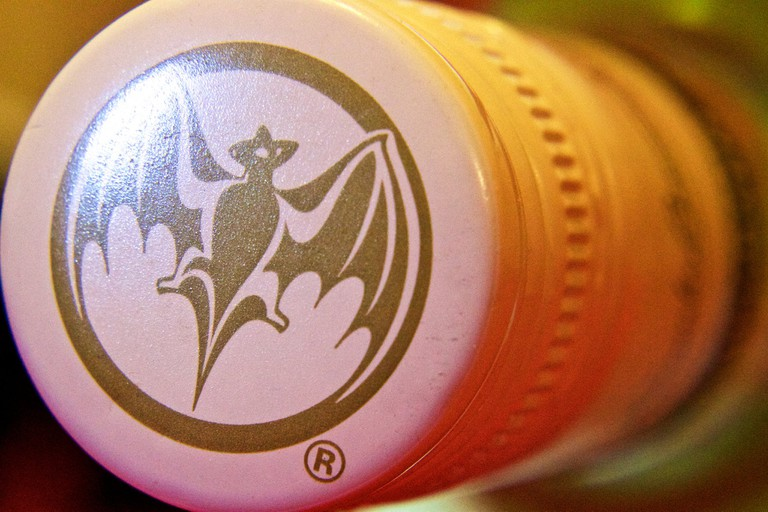 The bat logo helped illiterate customers recognize Bacardi products