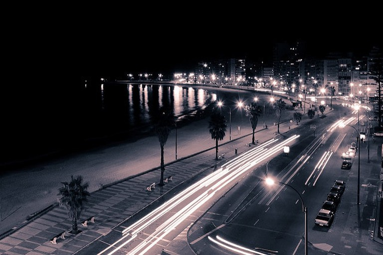 Montevideo City at night, Uruguay