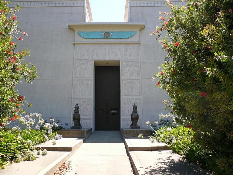 Exterior Entrance Rosicrucian Egyptian Museum and Planetarium San Jose