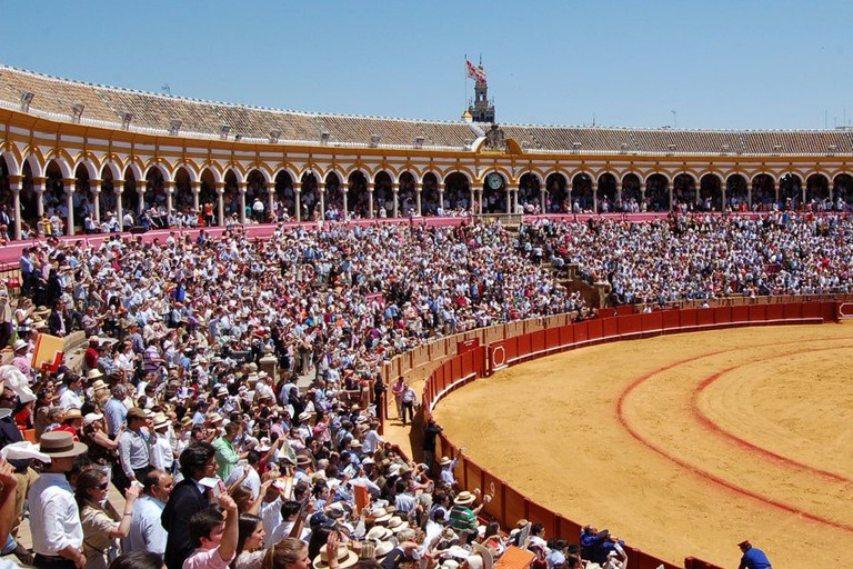 A packed-out bullfight in Seville