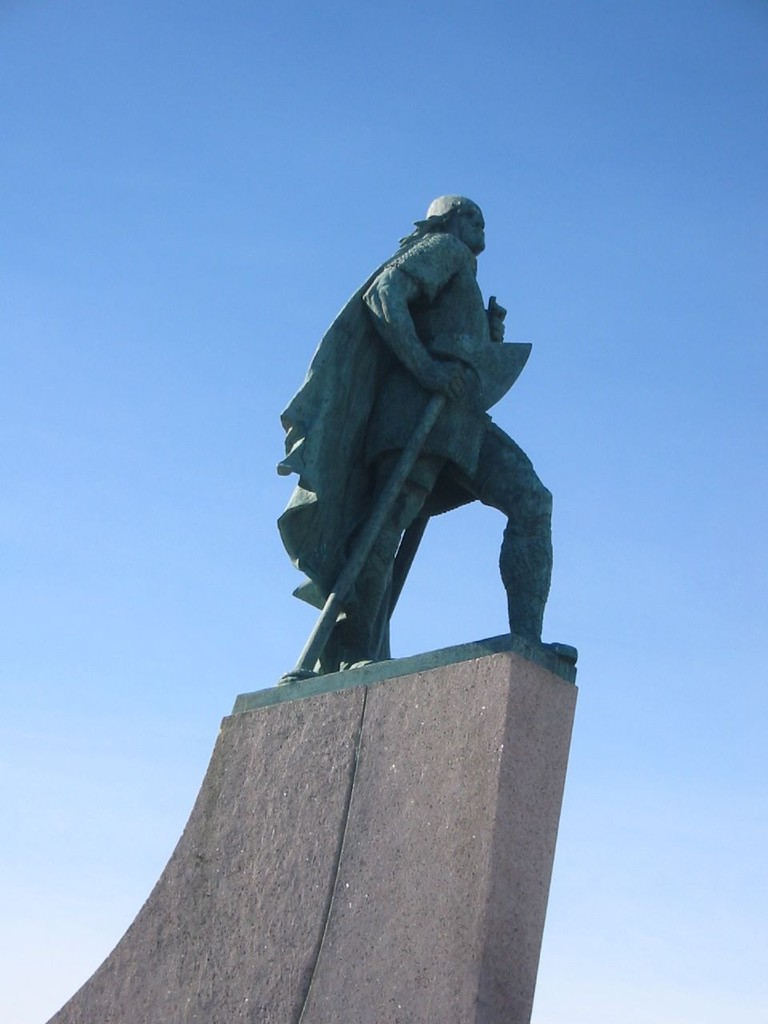 Leif Eriksson statue in Iceland
