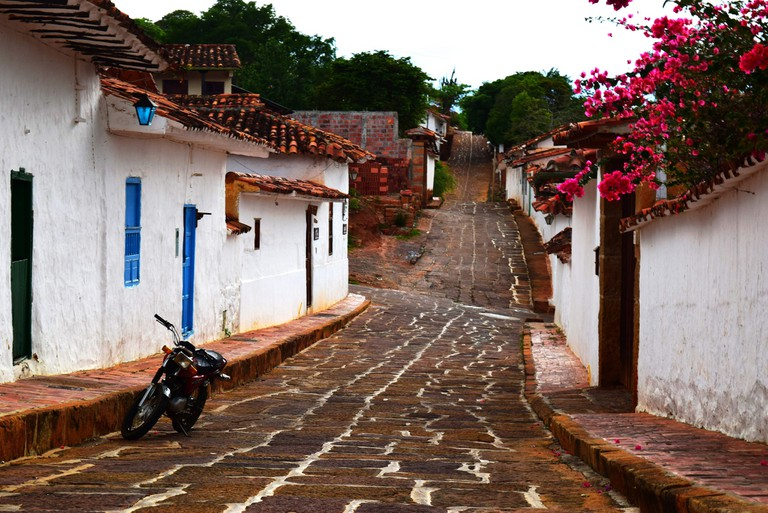 The cobbled streets of Barichara