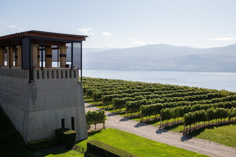 Mission Hill Winery overlooking Okanagan Lake
