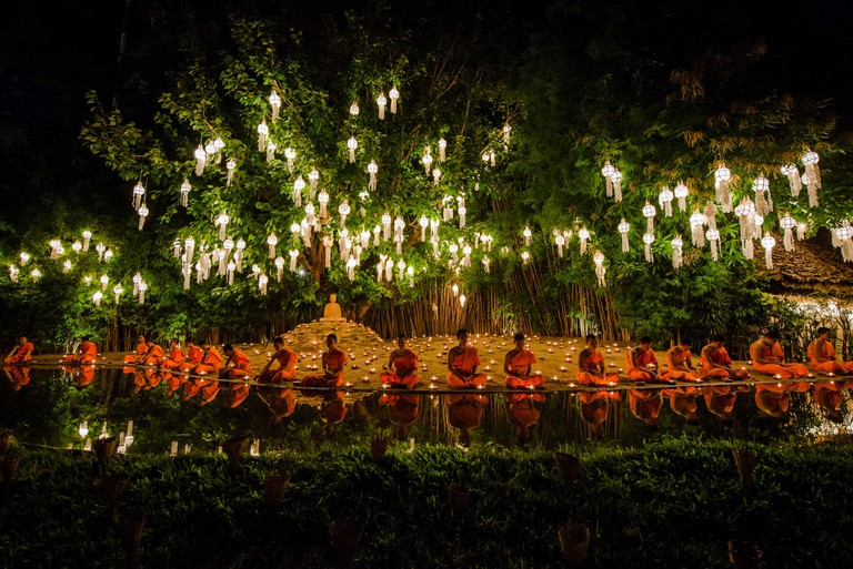 Monks & lights