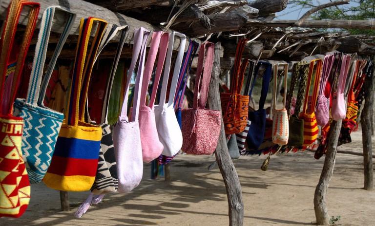 Wayuu bags in La Guajira │