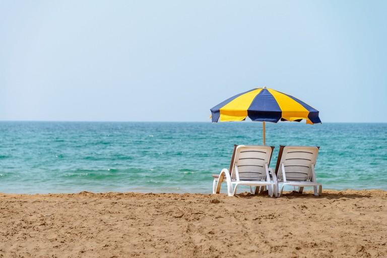 Relaxing spot on Agadir's beach
