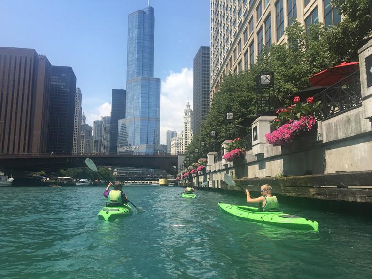 20160802 05 Kayaking on Chicago river