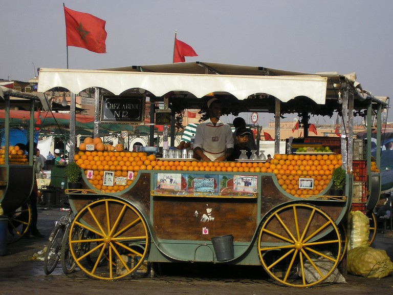 Orange juice vendor at Djemaa el Fna