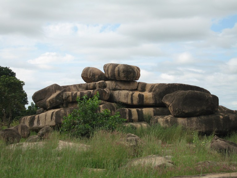 Enormous boulders in Tongo hills