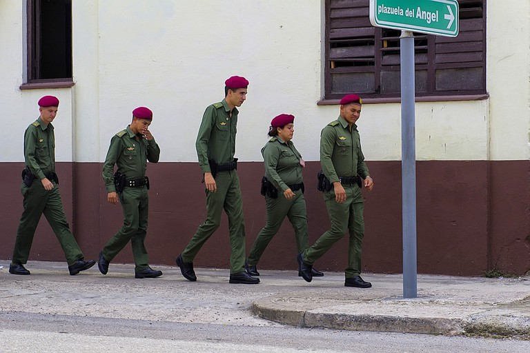 You can get in trouble for photographing Cuban security forces
