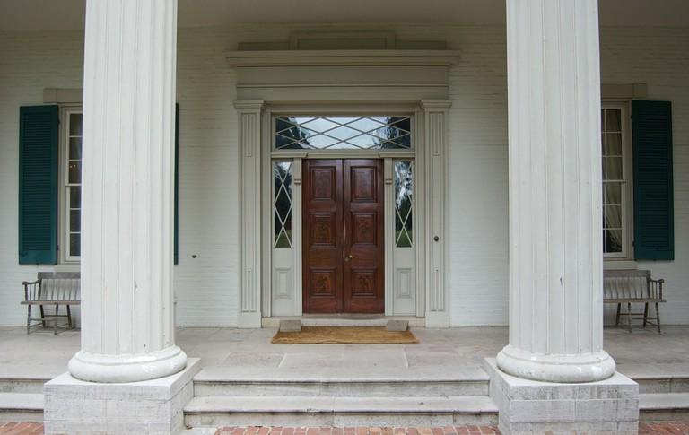 The front door of Andrew Jackson's Hermitage