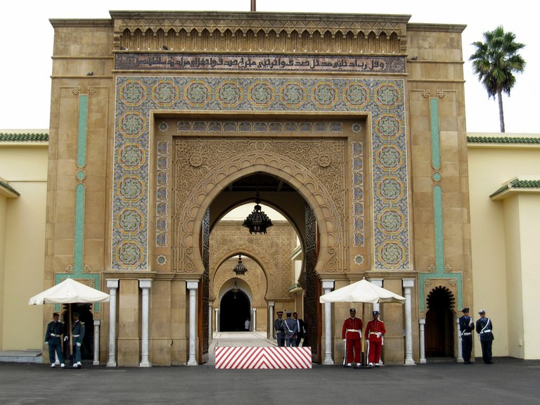 Impressive gate to Rabat Palace