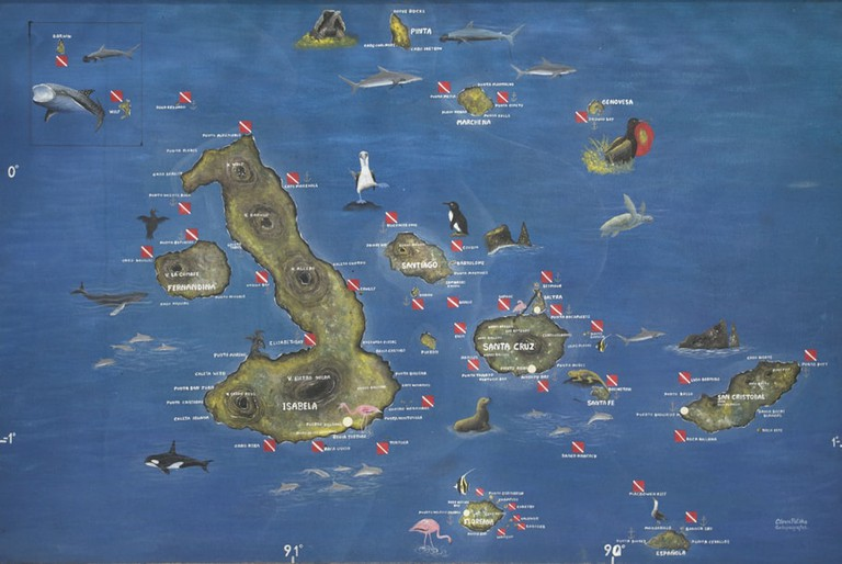 Map of the Galapagos Archipelago