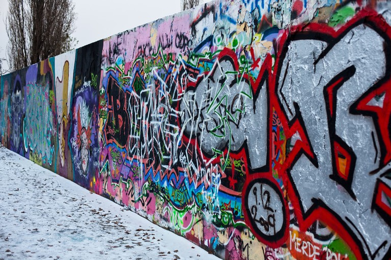Berlin Wall in the Mauerpark