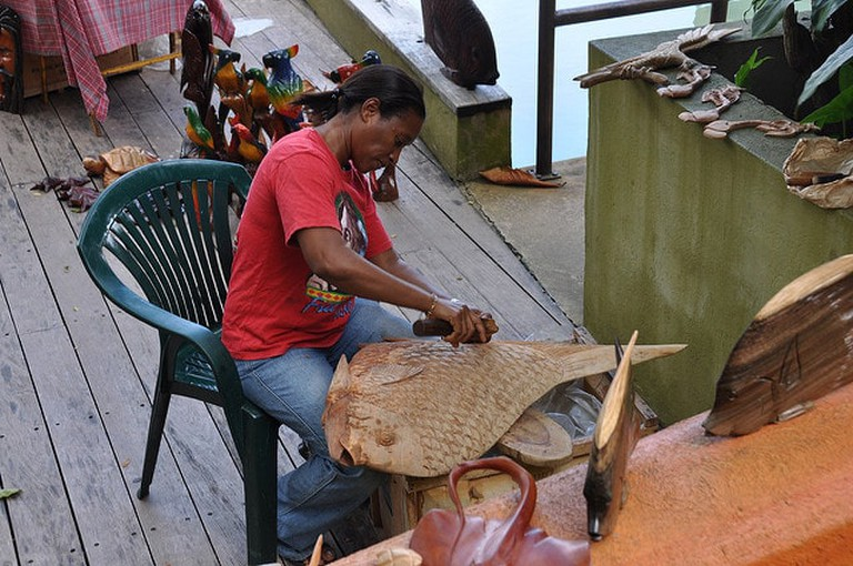 Wood carving in Jamaica