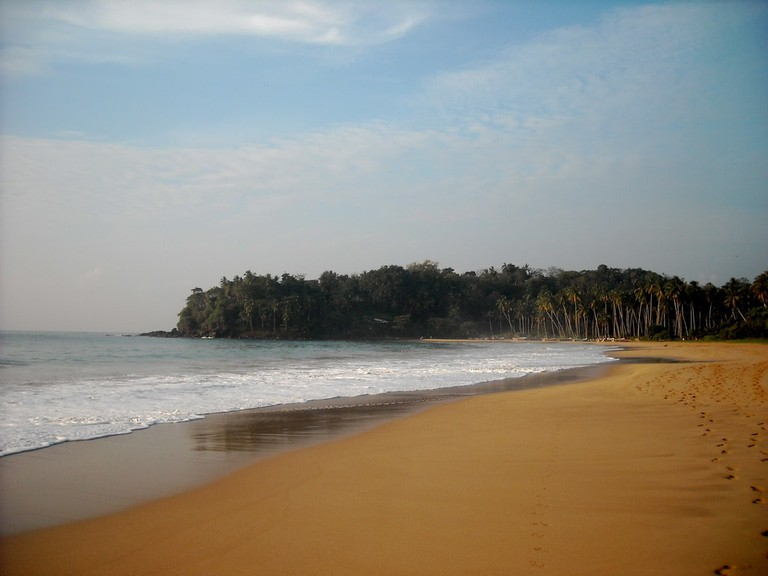 Sandy beaches in the southern shores of Sri Lanka