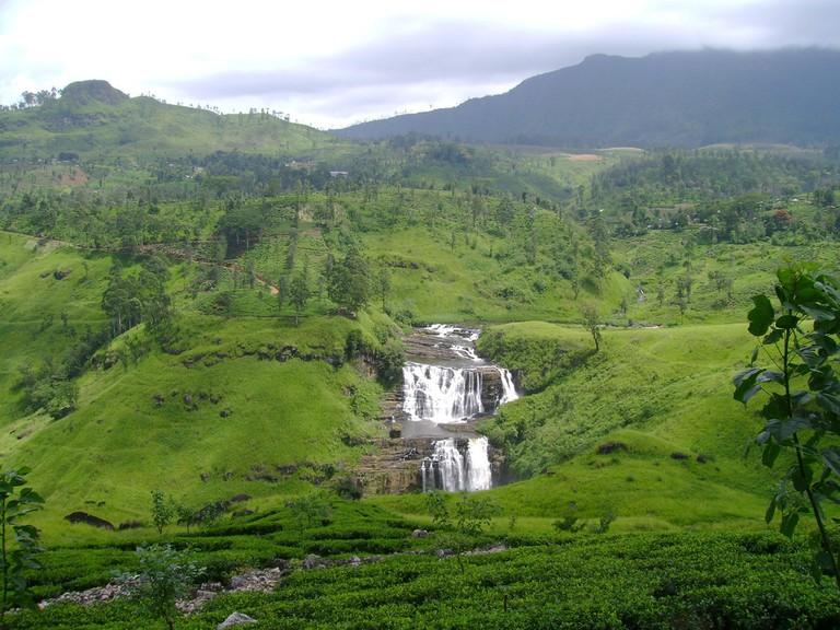 Large waterfall in Nuwara Eliya