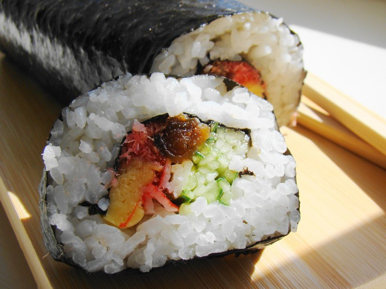 Futomaki, large rolled sushi with various fillings