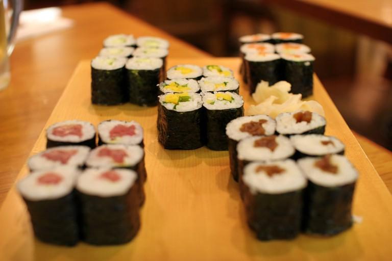 A selection of hosomaki