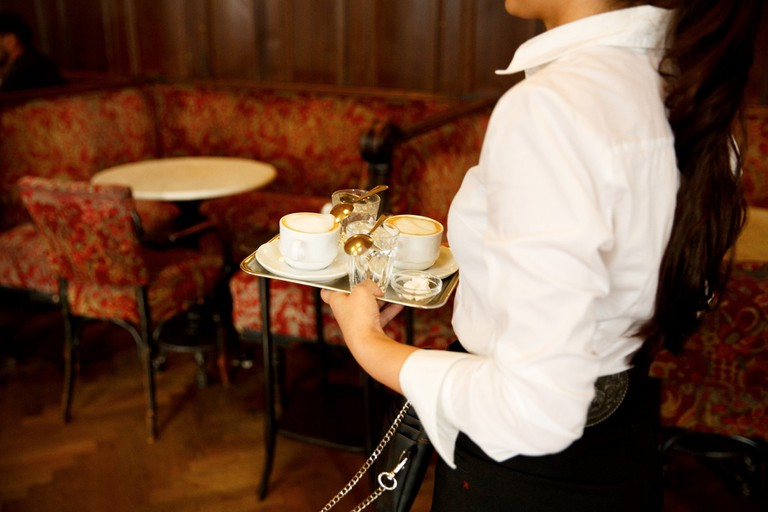 A traditional Viennese waiter