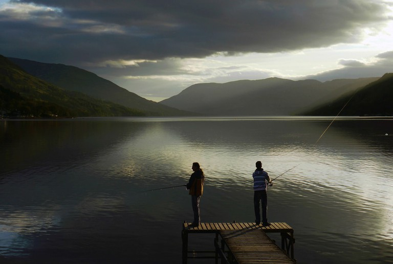 Fishing On Lochearnhead, Scotland