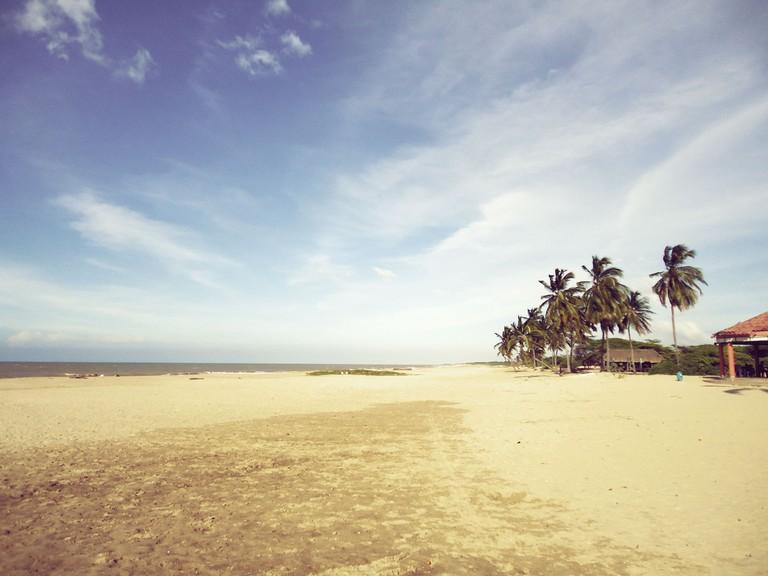The beach at Camarones │