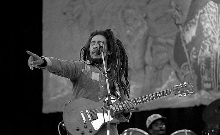 Bob Marley performs in Dublin, Ireland, on his last tour in 1980