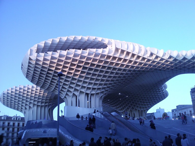 Seville's Metropol Parasol monument is known locally as 'the Mushrooms'