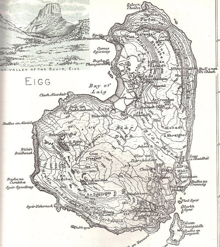 Map Of Eigg, 1892