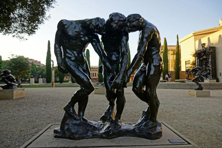 2011-12-17 Palo Alto, Stanford University 073 Museum of Art, Auguste Rodin Sculpture Garden, The Three Shades